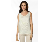 Damen T-Shirt Top Leinen ecru