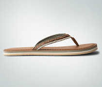 Damen Schuhe Zehensandale mit Perlenbesatz