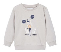 Baumwoll-sweatshirt mit cartoon