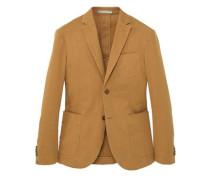 Slim fit-blazer aus canvas mit baumwolle