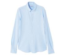 Regular fit-hemd aus baumwolle