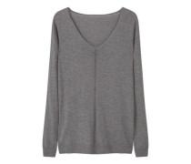 Pullover mit durchbrochenen zierborten