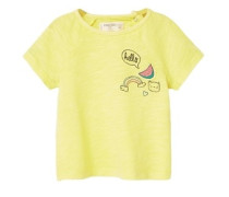 Meliertes Print-T-Shirt