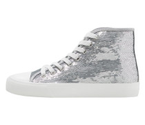 Sneakers mit metallic-pailletten