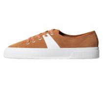 Kombi-sneakers aus rauleder