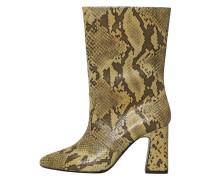 Stiefel mit schlangenleder-effekt