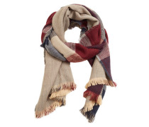 Dreifarbig Karierter Schal
