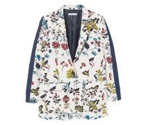 Jacquard-blazer mit blumenmuster