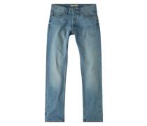 Straight Fit Jeans Brett Mit Heller Waschung