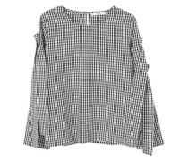 Popeline-bluse mit schleifen
