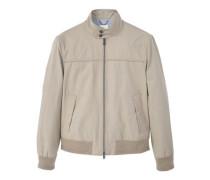 Jacke aus baumwoll-/leinengemisch