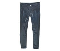 Skinny jeans mit metallic-effekt gloss