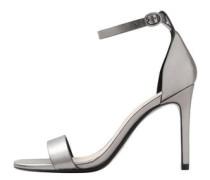 Sandale mit metallic-riemchen