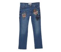 Straight Jeans In Cropped-Länge School