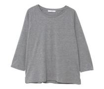 Basic-t-shirt aus baumwolle