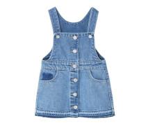 Jeans-Latzkleid Mittlere Waschung