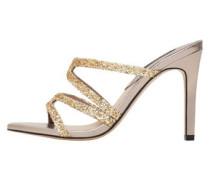 Sandale Mit Glitzereffekt