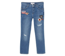 Straight Jeans In Cropped-Optik Scout