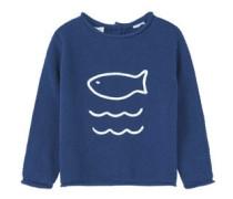 Baumwoll-Pullover Mit Stickerei