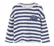 Strukturiertes Streifen-Sweatshirt