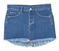 Jeansrock mit ausgefranstem saum
