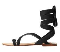 Sandale mit samtriemen