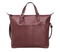 Genarbte tasche mit außentasche