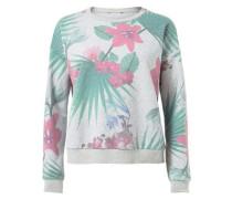 Sweatshirt Mit Tropen-Print