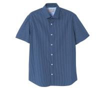 Slim fit-hemd mit gepunktetem design