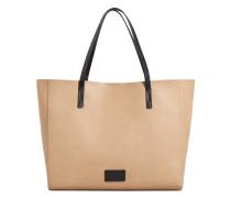 Genarbte shopper-bag