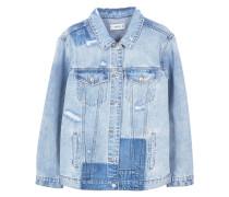 Oversized jeansjacke mit zerrissenen details