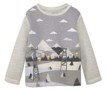 Gemustertes Baumwoll-Sweatshirt