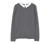 Pullover mit hemdkragen