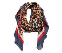 Schal mit leopardenmuster