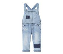 Jeans-latzhose mit patches