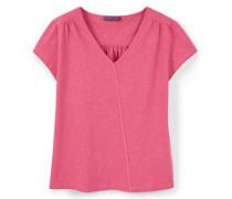 Baumwoll-T-Shirt, V-Ausschnitt