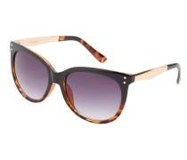 Sonnenbrille mit kontrastbügeln