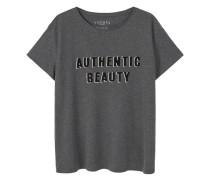 Shirt mit aufschrift und textur