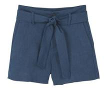 Shorts aus ramie mit textur