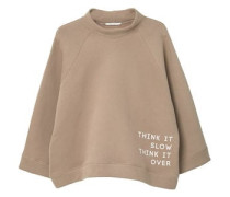 Baumwoll-Sweatshirt Mit Aufschrift