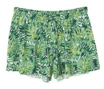 Fließende shorts mit print