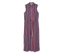 Fließendes kleid mit streifendesign