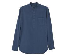 Regular fit-hemd mit brusttasche