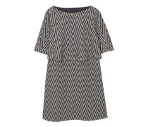 Kleid mit metallic-garn