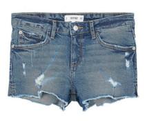 Jeansshorts mit zierrissen