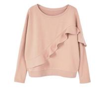 Baumwoll-Sweatshirt Mit Rüschen