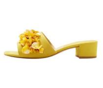 Sandale mit pailletten-applikation