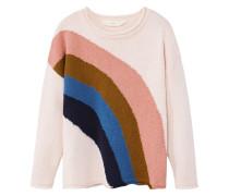 Pullover mit regenbogen-motiv