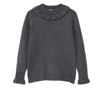 Pullover mit rüschendetail