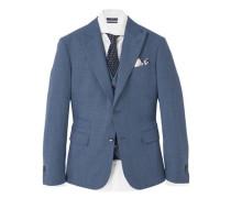 Slim fit anzugjacke aus wolle